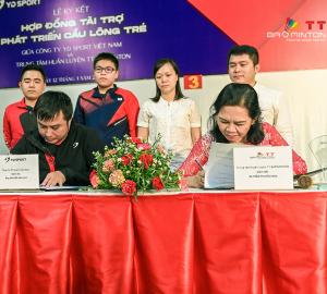 Công ty YD Sport và Trung tâm TT Badminton hợp tác phát triển cầu lông trẻ