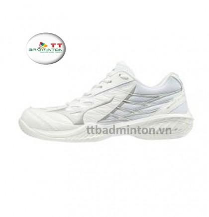 Giày cầu lông Mizuno (Nhật) Wave Claw - Nữ (trắng bạc)
