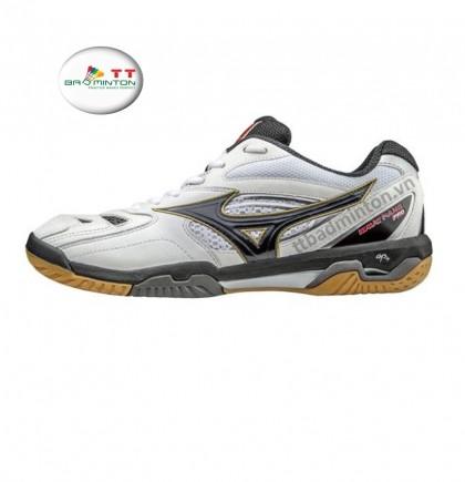Giày cầu lông Mizuno (Nhật) Wave Fang Pro - Trắng đen