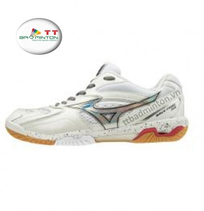 Giày cầu lông Mizuno (Nhật) Wave Fang Pro - Trắng