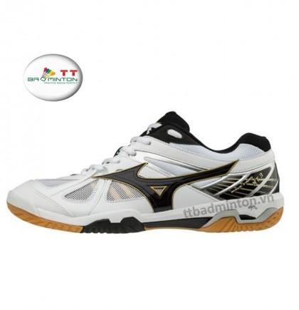 Giày cầu lông Mizuno (Nhật) Wave Fang XT3 - Trắng đen