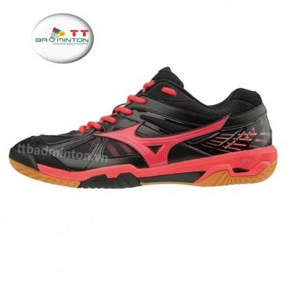 Giày cầu lông Mizuno (Nhật) Wave Fang XT3 - Đen đỏ