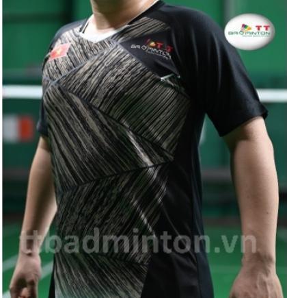 Áo cầu lông TT Badminton đen - Nam