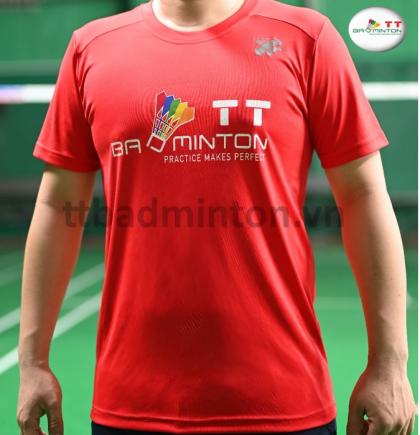 Áo cầu lông TT Badminton đỏ - Thiếu nhi