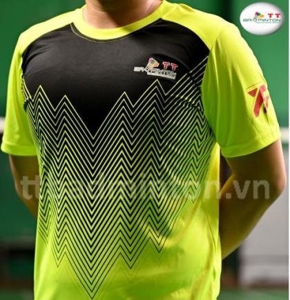 Áo cầu lông TT Badminton xanh chuối đen - Nữ