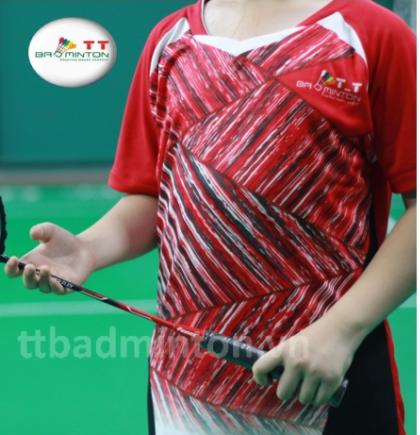 Áo cầu lông TT Badminton đỏ - Nữ
