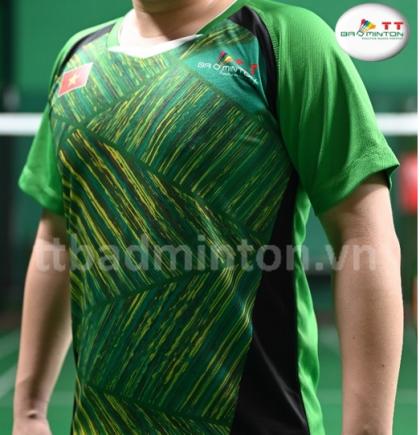 Áo cầu lông TT Badminton xanh lá - Nam
