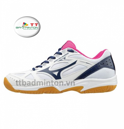 Giày cầu lông Mizuno (Nhật) Sky Blaster - Nữ (Trắng hồng)
