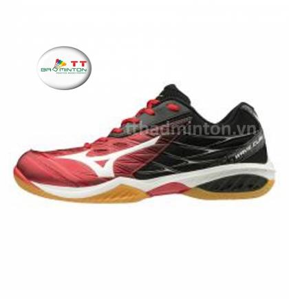 Giày cầu lông Mizuno (Nhật) Wave Claw - Đỏ đen