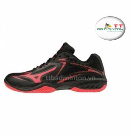 Giày cầu lông Mizuno (Nhật) Wave Claw EL - Đen đỏ