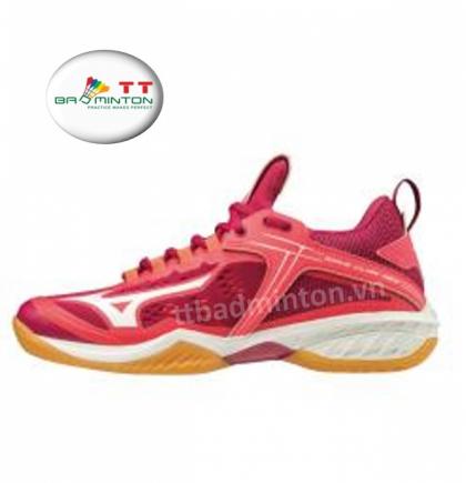 Giày cầu lông Mizuno (Nhật) Wave Claw NEO - Nữ (đỏ)