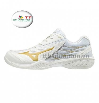 Giày cầu lông Mizuno (Nhật) Wave Claw - Trắng vàng