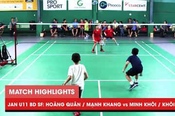 Highlights JWS 2021 (Tháng 1) | BD U11 Bán kết: Hoàng Quân/Mạnh Khang vs Minh Khôi/Khôi Nguyên