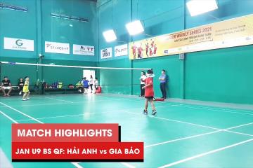 Highlights JWS 2021 (Tháng 1) | BS U9 Tứ kết: Lê Hải Anh vs Phạm Nguyễn Gia Bảo