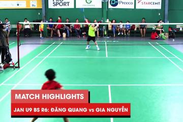 Highlights JWS 2021 (Tháng 1) | BS U9 Vòng 6 (Bảng dưới): Nguyễn Đăng Quang vs Phạm Gia Nguyễn