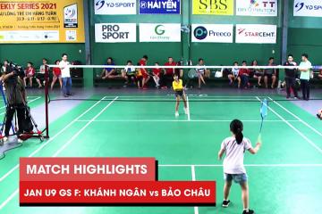 Highlights JWS 2021 (Tháng 1) | GS U9 Chung kết: Phan Hoàng Khánh Ngân vs Nguyễn Bảo Châu