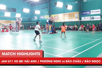 Highlights JWS 2021 (Tháng 1) | XD U11 Tứ kết: Hải Anh/Phương Nghi vs Bảo Châu/Bảo Ngọc