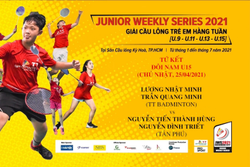 JWS 2021 (25/4) | U15 | QF: Nhật Minh/Quang Minh (TT Badminton) vs Thành Hùng/Đình Triết (Tân Phú)