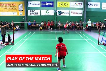 Play of the match | JWS 2021 (Tháng 1) | BS U9 Chung kết: Lê Hải Anh vs Đặng Quang Khải (2)