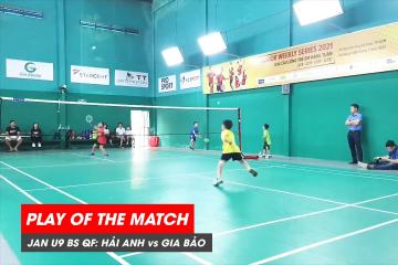 Play of the match | JWS 2021 (Tháng 1) | BS U9 Tứ kết: Lê Hải Anh vs Phạm Nguyễn Gia Bảo