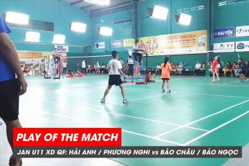 Play of the match | JWS 2021 (Tháng 1) | XD U11 Tứ kết: Hải Anh/Phương Nghi vs Bảo Châu/Bảo Ngọc (1)