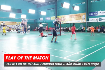 Play of the match | JWS 2021 (Tháng 1) | XD U11 Tứ kết: Hải Anh/Phương Nghi vs Bảo Châu Bảo Ngọc (2)